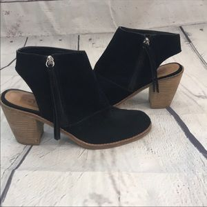 Dolce vita booties with cutout heel (SH